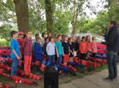 Commémoration avec les élèves de l'école Bapaume